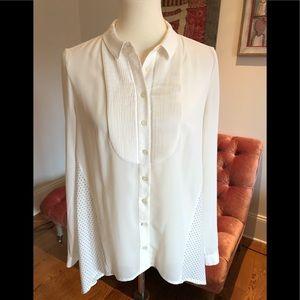 Anthro Maeve Tuxedo shirt